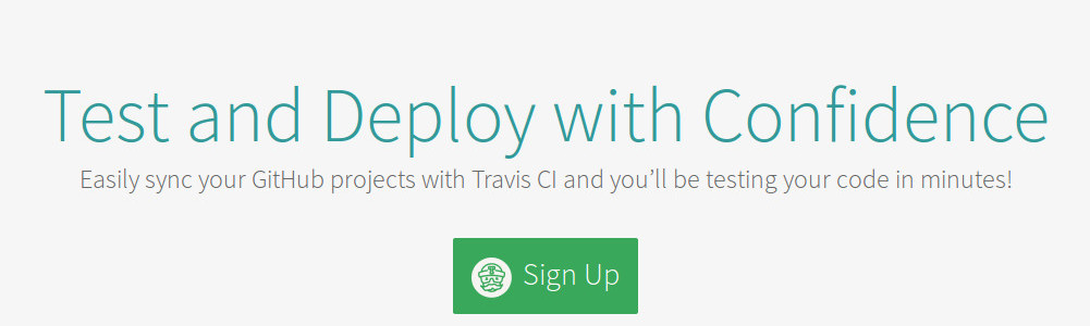 Travis sign up with github